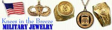 Knees in the Breeze -- Custom Military Jewelry