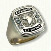 Custom 101st Airborne sigent ring